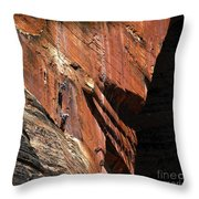 Climbing The Great Arch Throw Pillow