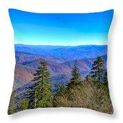 Clingmans Dome Panorama Throw Pillow
