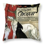 Clinique Cheron - Vintage Clinic Advertising Poster Throw Pillow