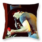 Clint Black-0836 Throw Pillow