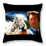 Clint Eastwood As Dirty Harry Throw Pillow