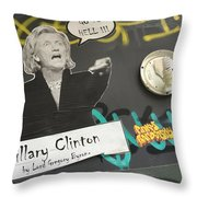 Clinton Message To Donald Trump Throw Pillow