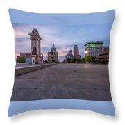 Clinton Square Sunrise Throw Pillow