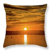Clinton Sunset 1 Throw Pillow