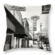 Clinton Tennessee Sepia Throw Pillow