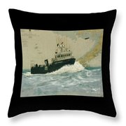 Clipper Endeavor Alaska Boat Nautical Chart Map Throw Pillow