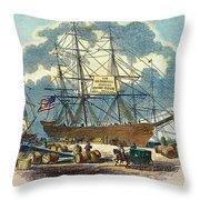 Clipper: Flying Cloud, 1851 Throw Pillow