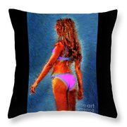 Clitorisandrea Throw Pillow