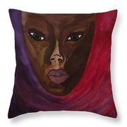 Cloaked Or Mask Throw Pillow
