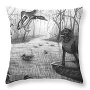 Cloaked Throw Pillow