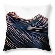 Cloaked Swirls Copper And Blues Abstract Tunic 2 8282017  Throw Pillow