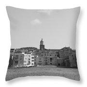 Clocher De Saint - Tropez Vue De La Mer  Throw Pillow