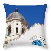 Clock And Tower Throw Pillow