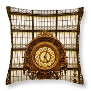 Clock Dorsay Museum Throw Pillow
