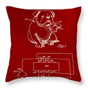 Clock For Keeping Animal Time Patent Drawing 1b Throw Pillow