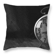 Clock - Id 16218-130631-3641 Throw Pillow