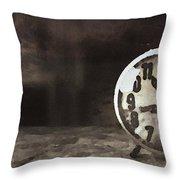 Clock - Id 16218-130649-1306 Throw Pillow