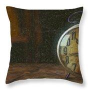 Clock - Id 16218-130715-1843 Throw Pillow