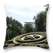 Clock In Los Colinas  Throw Pillow