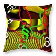 Clock Of Politics 2010 Throw Pillow