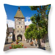 Half-timbered Houses, Alsace, France  Throw Pillow