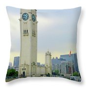 Clock Tower Montreal 1 Throw Pillow