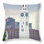 Clock Tower Montreal 2 Throw Pillow