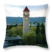 Clock Tower Throw Pillow