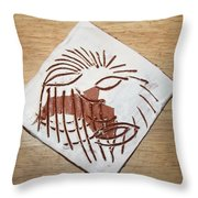 Clocked Off - Tile Throw Pillow