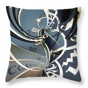 Clockface 14 Throw Pillow
