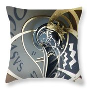 Clockface 4 Throw Pillow