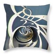 Clockface 7 Throw Pillow