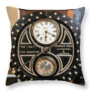 Clocking On Throw Pillow
