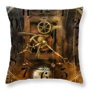 Clockmaker - A Sharp Looking Time Piece Throw Pillow