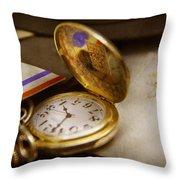 Clockmaker - Time Never Waits  Throw Pillow