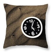 Clocks And Ripples Throw Pillow