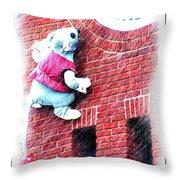Clocktower Mouse Throw Pillow