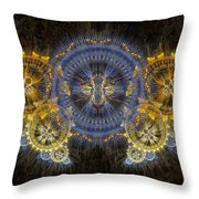 Clockwork Butterfly Throw Pillow