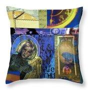 Clockwork Throw Pillow