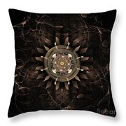 Clockwork Throw Pillow by John Edwards