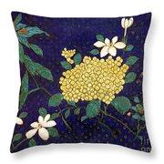 Cloisonee' Flower Throw Pillow