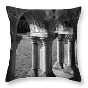 Cloister At Cong Abbey Cong Ireland Throw Pillow