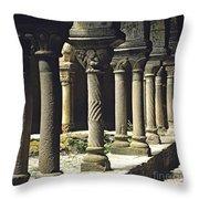 Cloister Of Lavaudieu. Haute Loire. Auvergne Throw Pillow