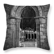 Cloister View Cong Abbey Cong Ireland Throw Pillow