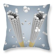 Cloning Carbon Nanotubes Throw Pillow