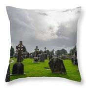 Clonmacnoise Monastery Throw Pillow