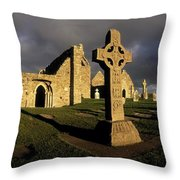 Clonmacnoise Monastery, Co Offaly Throw Pillow