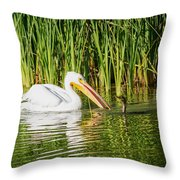 Close Call For The Cormorant Throw Pillow