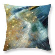 Close Encounter With A Great Blue Throw Pillow