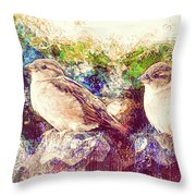 Close Encounters Of The Bird Kind Throw Pillow